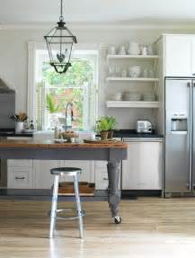 heir and space tables as kitchen islands