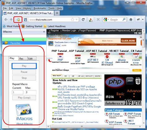 imacros browser tutorial imacros เป น tools ทำงานบน browser เช น chrome firefox