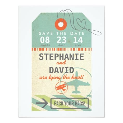 printable save the date luggage tags luggage tag vintage destination wedding save date paper