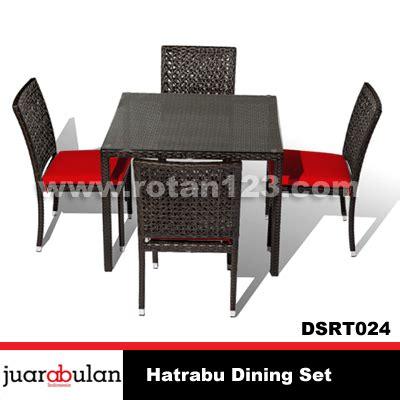 Set Meja Makan Rotan harga jual hatrabu dining set meja makan rotan sintetis model gambar