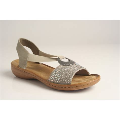 shoes and sandals for rieker rieker sandal with elasticated straps lightweight