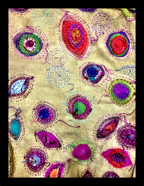 colorful stitches colorful stitches on cloth textile