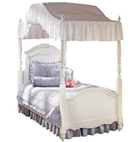 twin bed canopy cover amazon com twin size solid white canopy top flat or