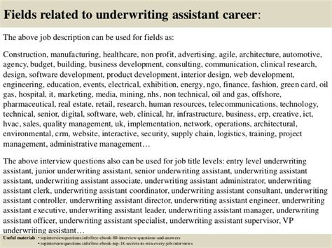 Underwriting Assistant by Top 10 Underwriting Assistant Questions And Answers