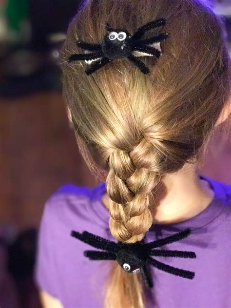 halloween hairstyles spider halloween hair style create a simple spider hair accessory