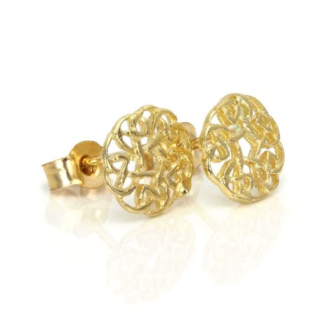 Gold Stud Earrings 9ct gold 7mm celtic knot stud earrings