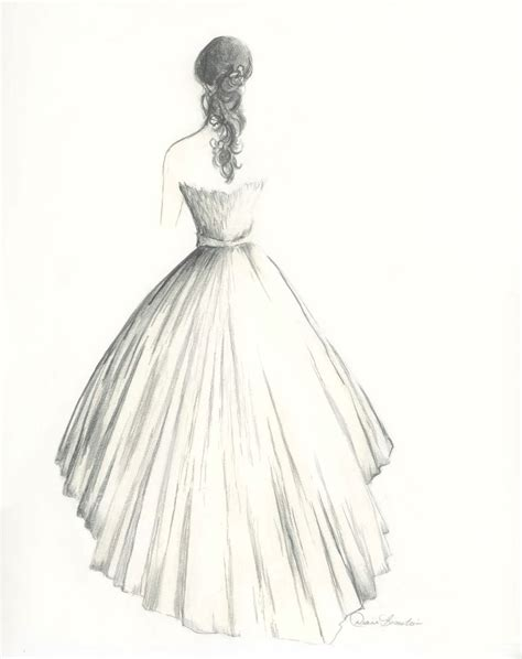 Drawing Dresses by Wedding Dress Dress Pencil And In Color