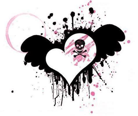 imagenes de emo con alas im 225 genes de corazones emo para compartir en facebook mil