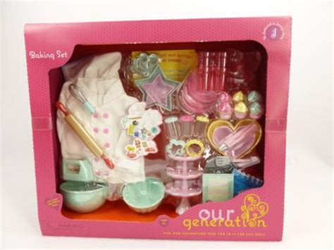 18 inch doll baking set accessories kitchen cooking dishes
