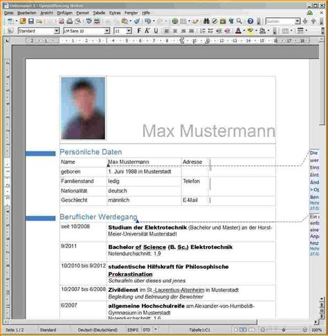 Lebenslauf Beispiel In Word 7 Lebenslauf Muster Word Reimbursement Format