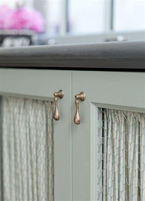 chicken wire cabinet door  country kitchen boasts