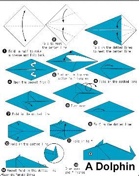 How To Make Paper Dolphin - pika rimbaca bsr aneka origami
