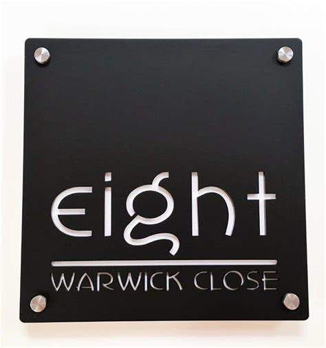 House Numbers And Name Plaques Cms Front Doors Front Door Name Plaques