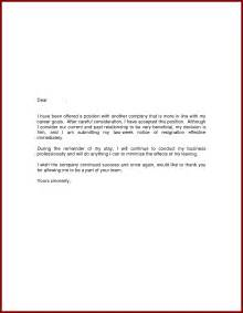 Letter Of Resignation Effective Immediately by 14 Effective Immediately Resignation Sendletters Info