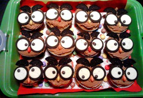 eulen kuchen eulen cupcakes owl cupcakes oreo selbstgemachte