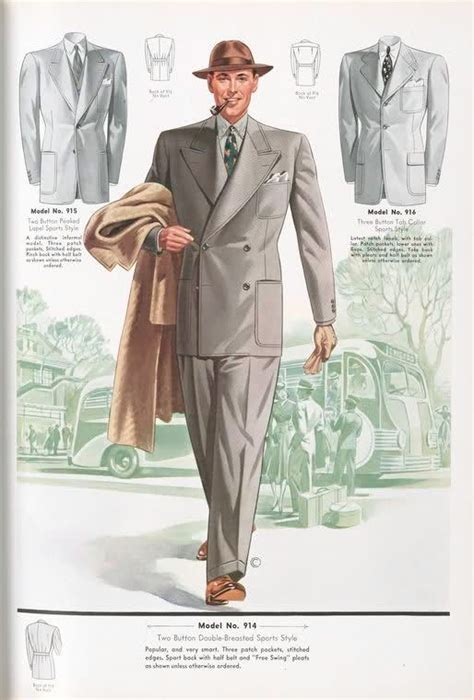 a popular style of 1930s suit 1930s mens fashion plate do not underestimate the power
