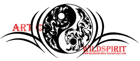 yin yang tribal wolf tattoo by wildspiritwolf on deviantart