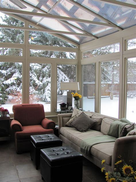 winter sunroom  cozy glass roof cathedral  alberta