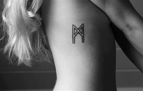 viking rune tattoos quot the soul quot or quot the self quot viking rune