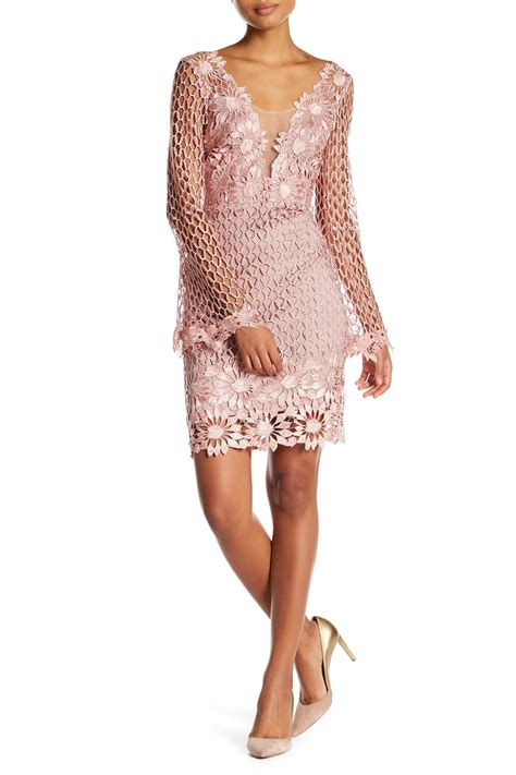 soieblu lace loop bell sleeve dress nordstrom rack