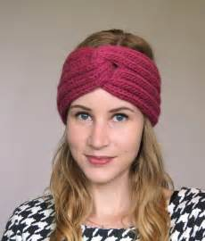 knitted headband pattern francine headband by knitmotion craftsy