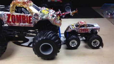 zombie monster jam truck wheels new 2014 monster jam 1 24 scale zombie youtube
