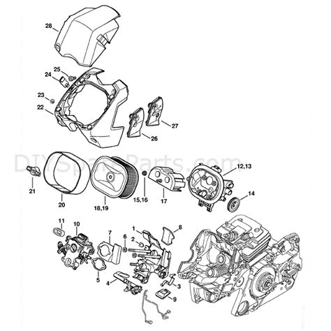 stihl chainsaw carburetor diagram stihl ms 441 chainsaw ms441 rz parts diagram carburetor