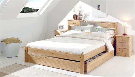lits 2 places en bois