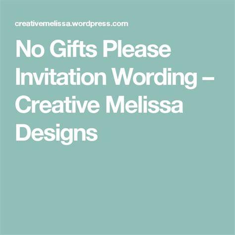 birthday invitation wording no gifts no gifts invitation wording creative designs kar invitation
