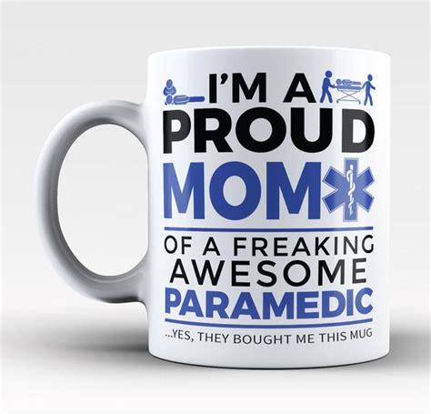 russ design large mug by proudfamilyshop proud mom of an awesome paramedic coffee mug tea cup