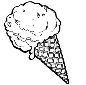 ice cream cone coloring page cookie pinterest