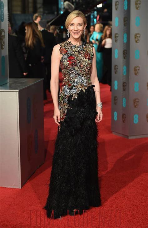 bafta 2016 awards bafta red baftas 2016 cate blanchett in alexander mcqueen tom