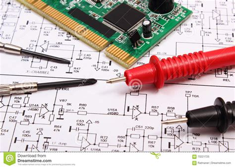 electronic circuit construction printed circuit board precision tools and cable of