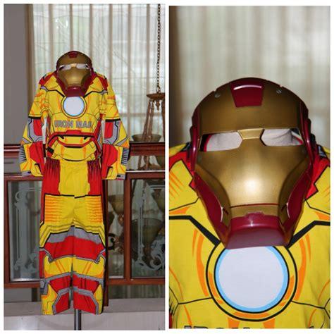 Baju Anak Pading Ironman Kostum Iron kostum ironman dengan topeng plastik sold ganti warna merah superheroku