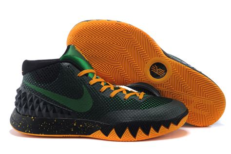 basketball shoes sale nike kyrie irving 1 black green orange basketball shoes