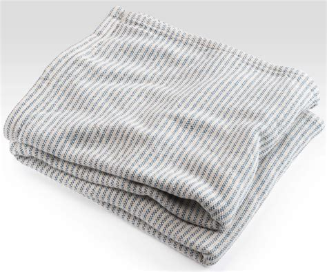 Ticking Stripe Coverlet French Blue By Brahms Mount