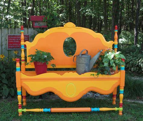 bench painting ideas 15 whimsical ways to use old furniture in your flower bed