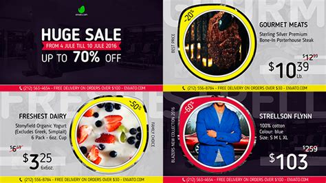 universal sale promo after effects template videohive