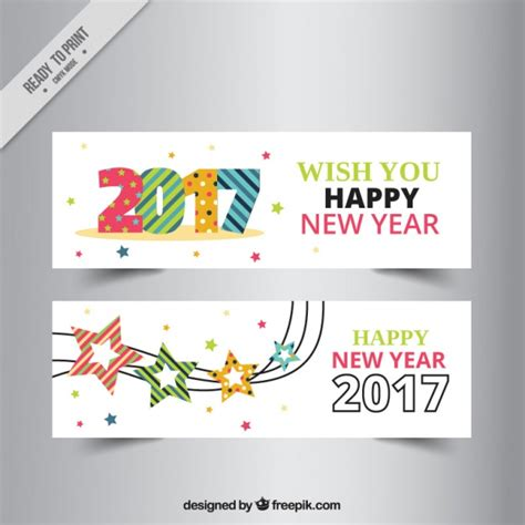 free vector new year banner colorful new year banners in flat design vector free