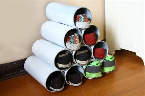 pvc shoe storage diy pvc pipe shoe rack tutorial