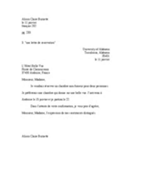 Reservation Class Letter Unit 6 Reservation Letter Alison Burnette Le 11 Janvier Franais
