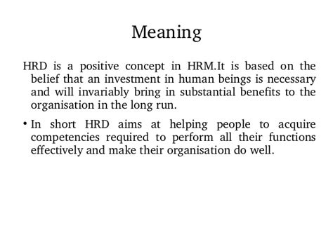 Mba Hrm Meaning by 1 2 Module Of Development For 3rd Sem Mba
