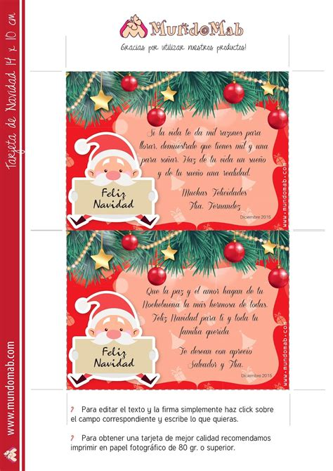 imagenes de navidad para editar 5 tarjetas navide 241 as para editar imprimir y regalar