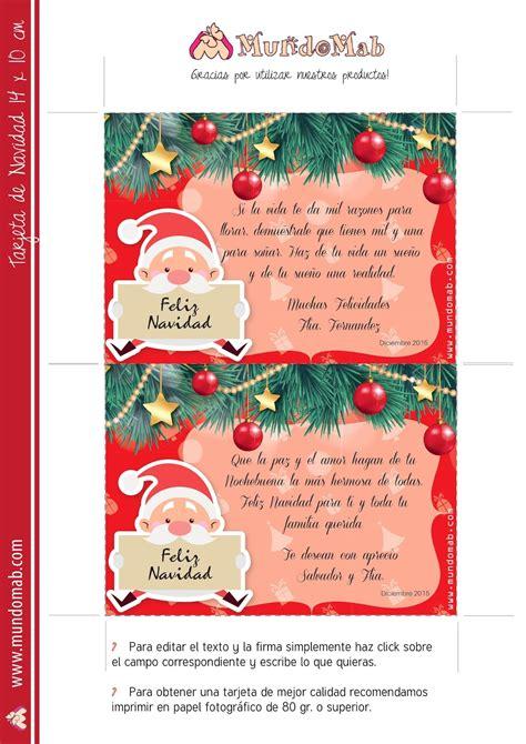 imagenes tarjetas navideñas para imprimir 5 tarjetas navide 241 as para editar imprimir y regalar