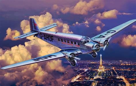 wallpaper art airplane painting aviation junkers ju