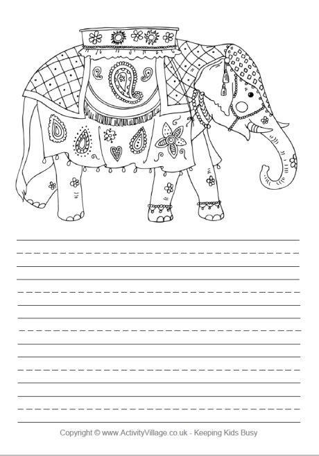 printable paper elephants free printable christmas paper indian elephant story