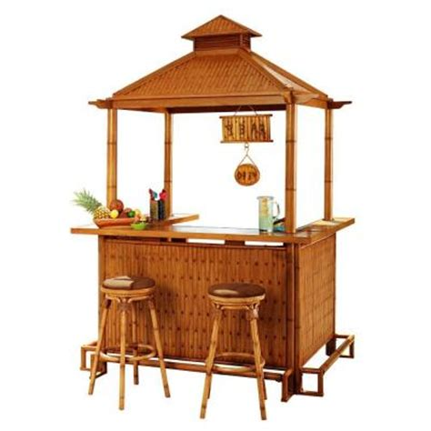 Tiki Bar Set Sunjoy Oasis 3 Patio Tiki Bar Set L Dn202sal D T