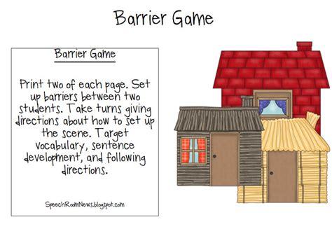 printable barrier games three little pigs preschool book companion speech room news