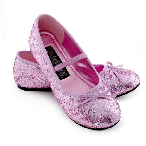 shoes kid sparkle ballerina child shoes pink costumes