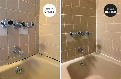 how to clean caulk in bathroom dealing with nasty grout caulk in the apartment bathroom